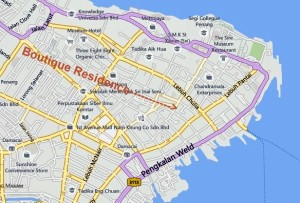 Map of The Boutique Residence Hotel Penang