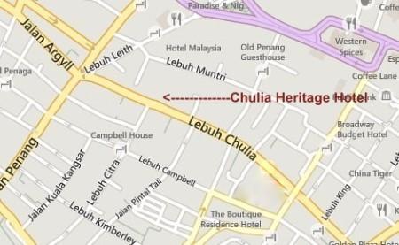 Chulia Heritage Hotel Penang Map