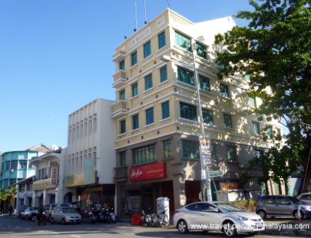 the Air Asia office along Chulia Street in Penang