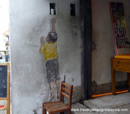 Boy on Chair Penang Street Art