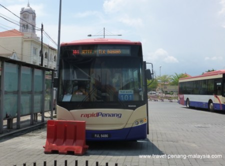 Bus 101 at the Penang Jetty bus terminal