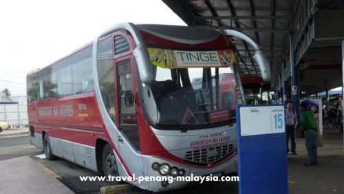 Konsortium Bas Ekspres bus from Penang to Alor Setar