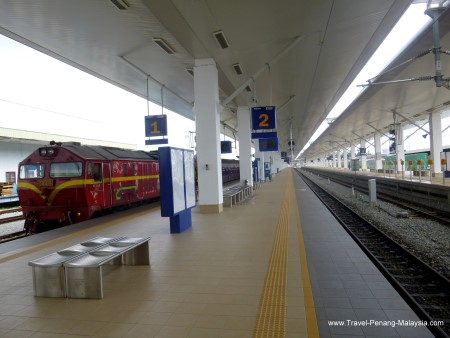 The new extra long platforms at Butterworth Railway Station
