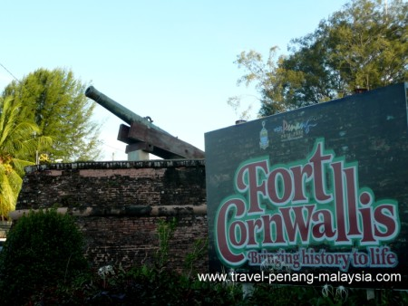 Fort Cornwallis in Georgetown Penang
