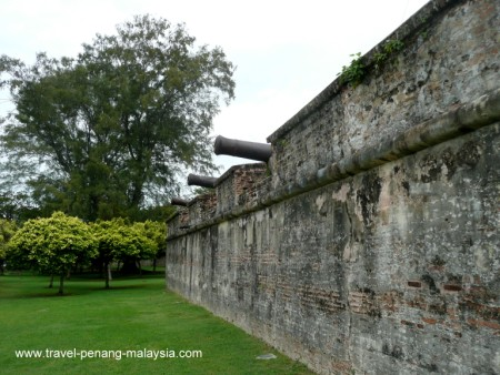 the outer wall at Fort Cornwallis
