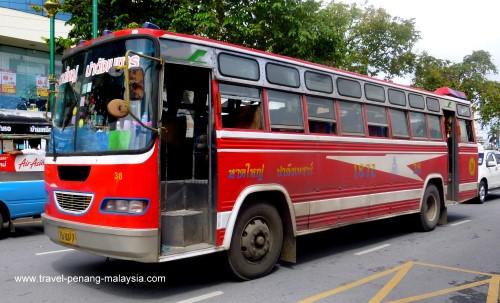 photo of the Hat Yai Padang Besar Bus