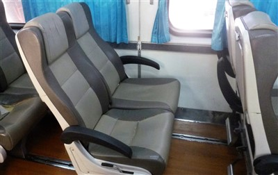 Seats on the Hat Yai to Padang Besar Train
