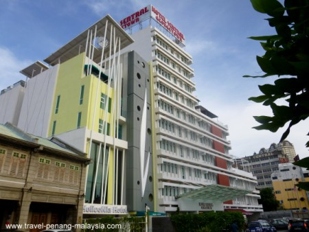 Photo of the HelicoNia Hotel Penang and the larger Hotel Sentral
