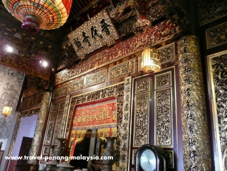 photo of the inside of Khoo Kongsi Temple in Penang