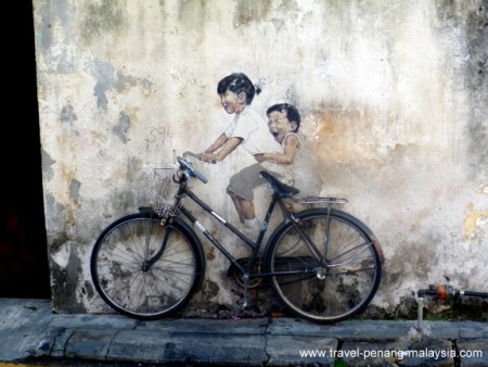 Kids on Bicycle Penang Street Art