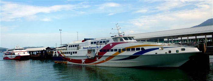 Langkawi ferry boats at Kuah Jetty