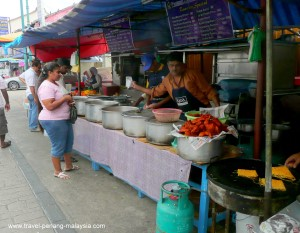 Street Food stall in Little Indai Penang