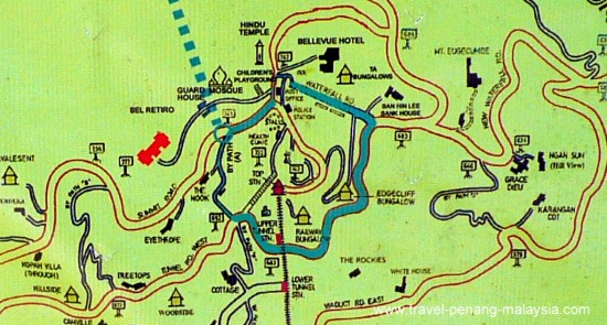 map of top Penang Hill