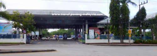 Photo of the border control in Padang Besar on the Thai side