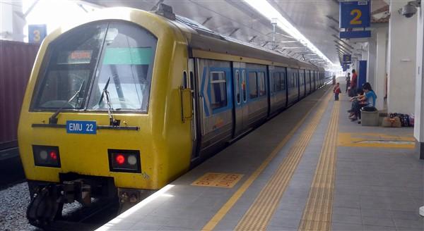Padang Besar to Butterworth KTM Komuter train at the station