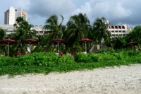 photo of the Parkroyal Hotel Batu Ferringhi beach Penang Malaysia from the beach