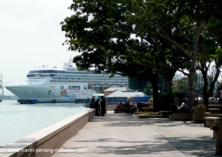 Cruise Ship docked at Penang Dock