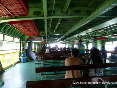 Photo onboard the penang ferry
