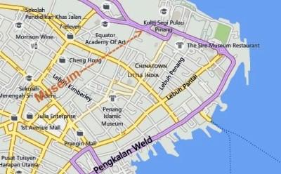 Penang Museum Map