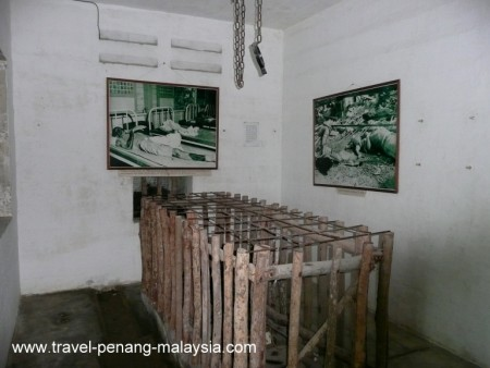 photo of a torture cage