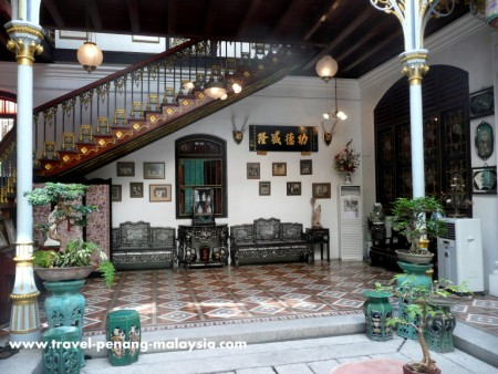 photo of the Pinang Peranakan Mansion in Georgetown Penang
