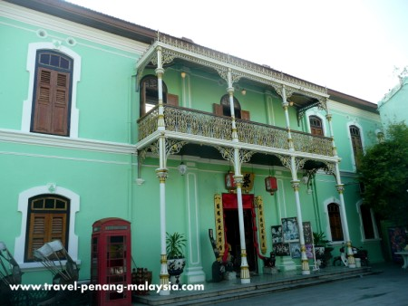 photo of the entrance of the Pinang Paranakan Mansion in Georgetown Penang