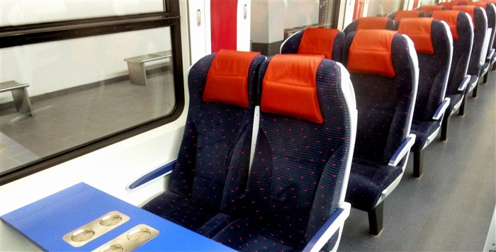 Seats on an ETS train from KL to Padang Besar