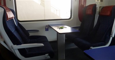 Seats on an ETS train