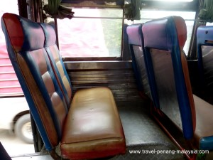 seats on the Hat Yai Padang Besar bus