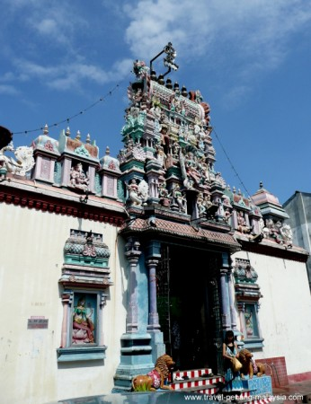 Photo of Sri Mariamman Temple entrance Georgetown Penang Malaysia