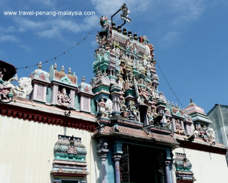 photo of Sri Mariamman Indian Temple in Georgetown Penang Malaysia