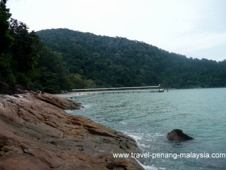 view of Teluk Aling Penang National Park