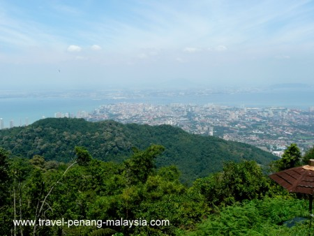 View of Georgetown from Penang Hill in Penang Malaysia