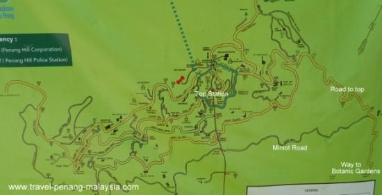 Penang Hill Map