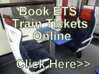 Book ETS Train Tickets Online >>