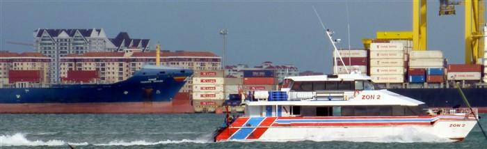Ferry boat departing from Penang to Langkawi