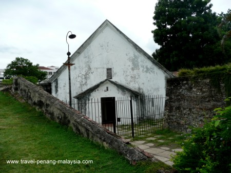 photo of the chapel in Fort Cornwallis