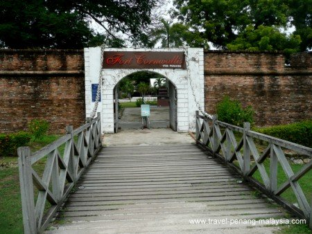 photo of the entrance to Fort Cornwallis in Georgetown Penang