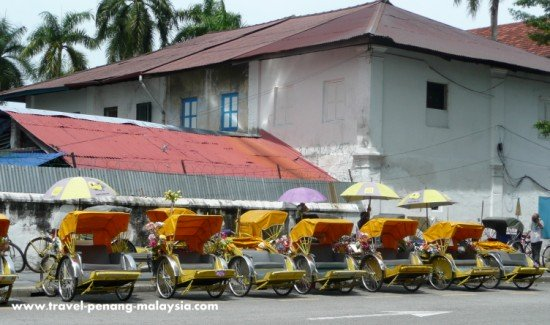 Bicycle Rickshaws in Georgetown Penang