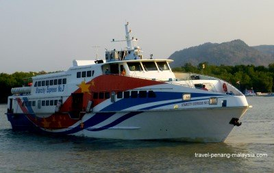 picture of the high-speed boat to Langkawi from Kuala Perlis Jetty