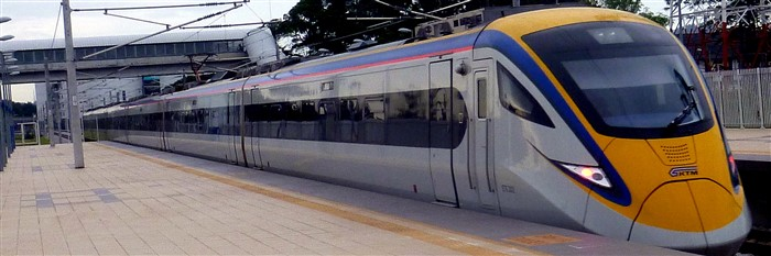 High-speed ETS train in Malaysia