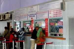 Langkawi ferry ticket-counter at Kuala Perlis