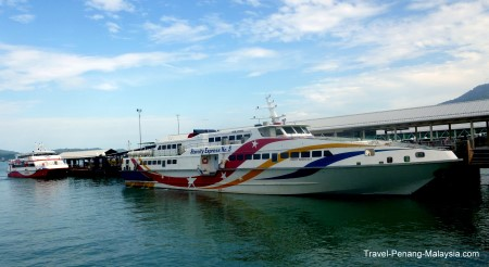 photo of boats at Langkawi Jetty