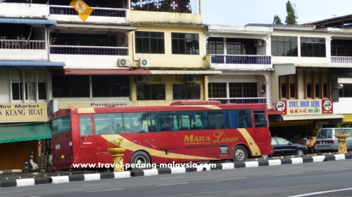 Maraliner bus coming in to Padang Besar