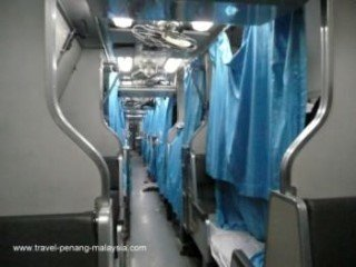 Photo of the sleeping carriage on the Penang Bangkok Train