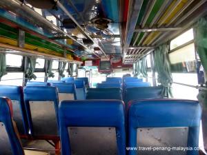 onboard the Padang Besar bus