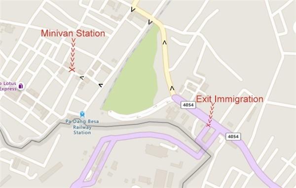 Padang Besar minivan station map