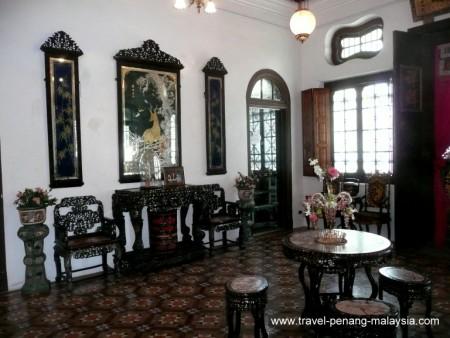 photo from inside the Pinang Paranakan Mansion