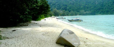 One of the most popular Penang beaches, Monkey Beach
