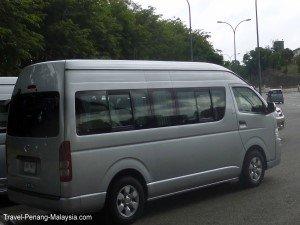 Photo of a Penang Hat Yai minibus